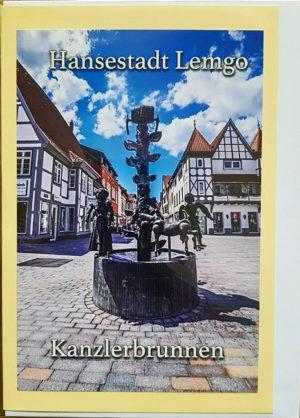 Postkarte Lemgo Mittelstraße Kanzlerbrunnen
