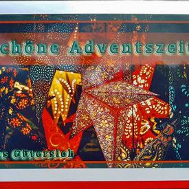 Weihnachtskarte Gütersloh Adventszeit Weihnachtssterne