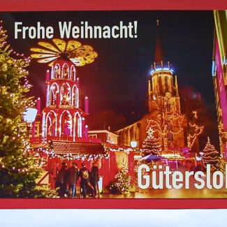 Weihnachtskarte Gütersloh Martin-Luther-Kirche