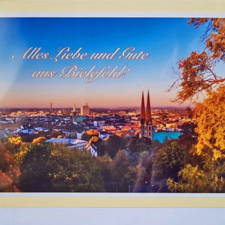 Postkarte Bielefeld Abenddämmerung