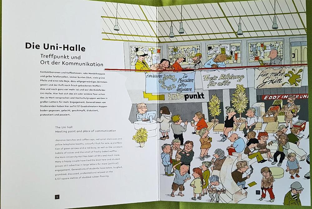 Unigewimmel - Uni-Halle Bielefeld