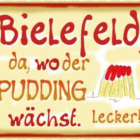 Bielefeld, da, wo der Pudding wächst