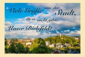 Bielefeld gibt es nicht Postkarte
