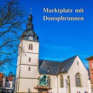 Postkarte Detmold Marktplatz Donopbrunnen