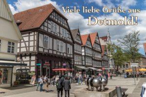 Postkarte Detmold Lange Straße