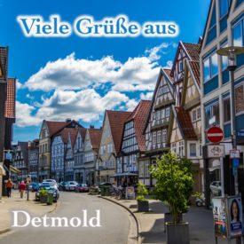 Postkarte Detmold Krumme Straße