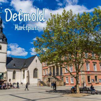 Postkarte Detmold Marktplatz