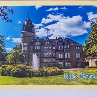 Postkarte Schloss Detmold