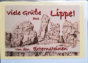 Postkarte Externsteine Lippe