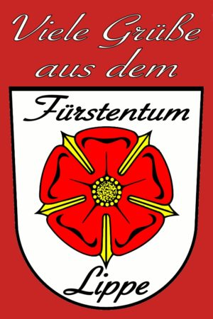 Postkarte Fürstentim Lippe Lippische Rose