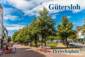 Postkarte Gütersloh Dreiecksplatz