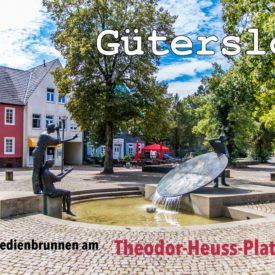 Postkarte Gütersloh Mohnbrunnen Medienbrünnen