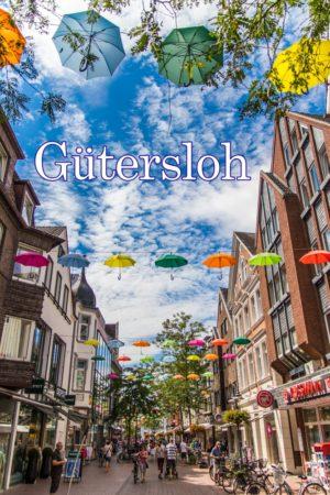 Postkarte Gütersloh Schirme