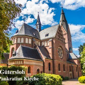 Postkarte St.-Pankratius-Kirche Gütersloh