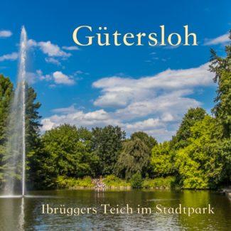 Postkarte Gütersloh Ibrüggers Teich im Stadtpark