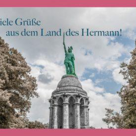 Land des Hermann Postkarte