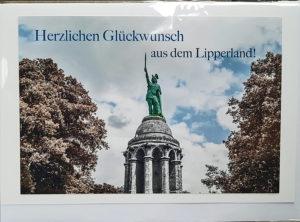 Postkarte Hermannsdenkmal Lipperland
