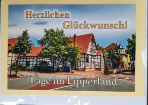 Postkarte Lage Lipperland