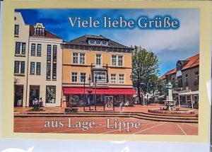 Postkarte Lage Lippe Innenstadt