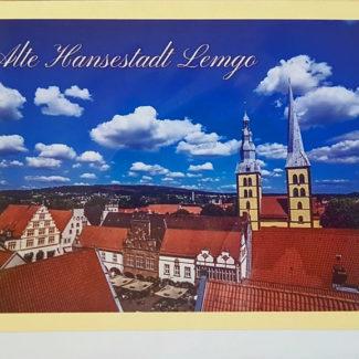 Grußkarte Lemgo Marktplatz St. Nicolai