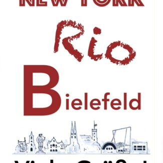 Postkarte New York, Rio, Bielefeld