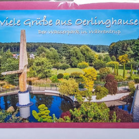 Postkarte Oerlinghausen Wasserpark Währentrup