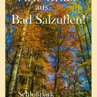 Grußkarte Bad Salzuflen Schlosspark Schötmar