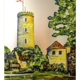 Postkarte Sparrenburg Bielefeld