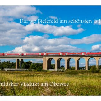 Postkarte Bielefeld Schildesche Viadukt am Obersee
