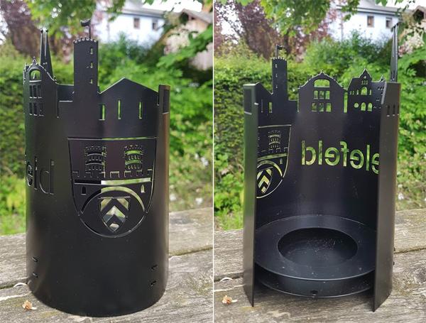 Windlicht Bielefeld schwarz