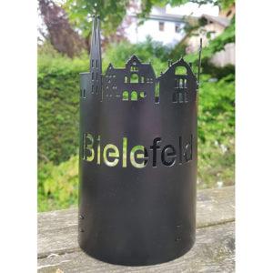 Bielefeld-Windlicht schwarz