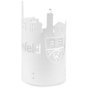 Windlicht Bielefeld Silhouette weiß