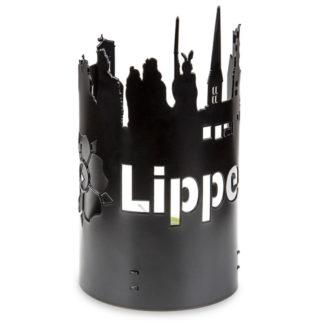 Windlicht Lippe schwarz