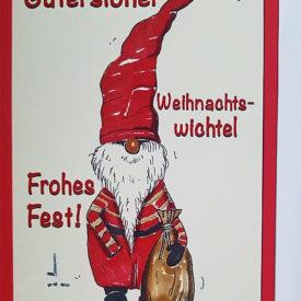 Weihnachtskarte Gütersloh Frohes Fest Weihnachtswichtel
