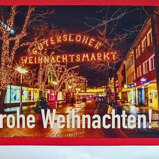 Weihnachtskarte Gütersloh Berliner Straße
