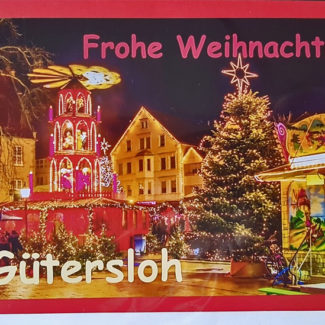 Weihnachtskarte Gütersloher Weihnachtsmarkt
