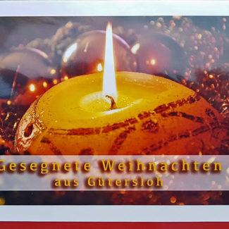 Weihnachtskarte Gütersloh Kerze